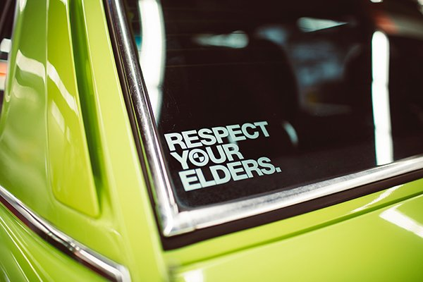 earned respect | respect your elders bumper sticker