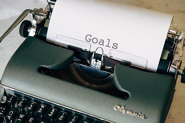 goals | typewriter - goals paper