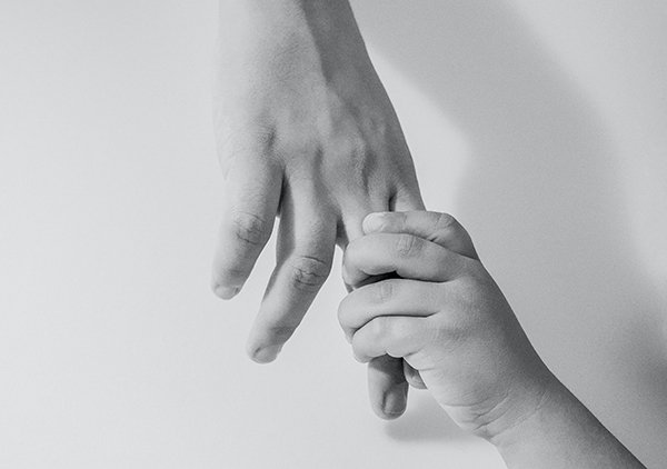 help others | hand holding hand
