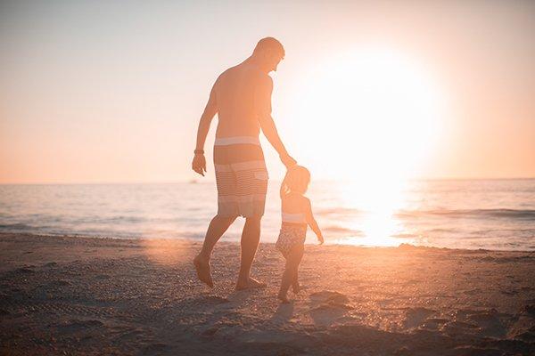 honest reliable parent | parent with child at sunset