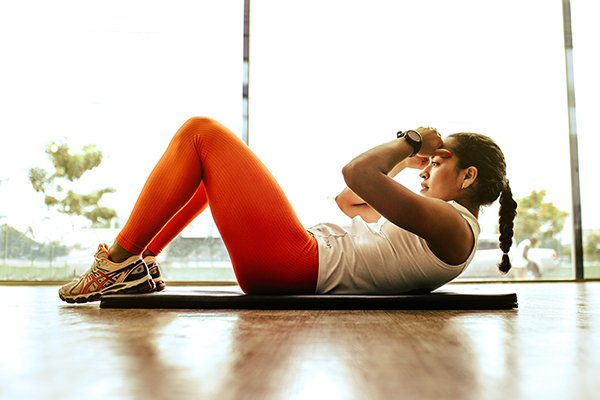 overcome pain | woman exercising