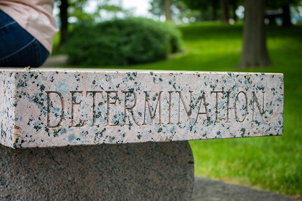 persistence | stone block says determination