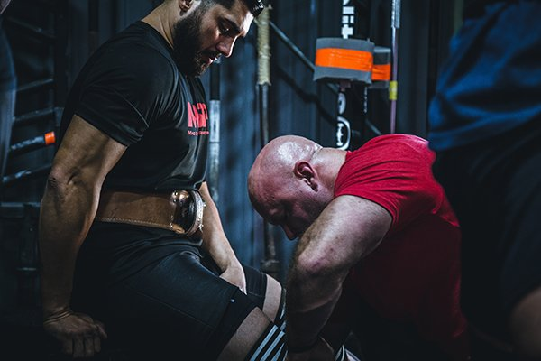 strong friends | men exercising