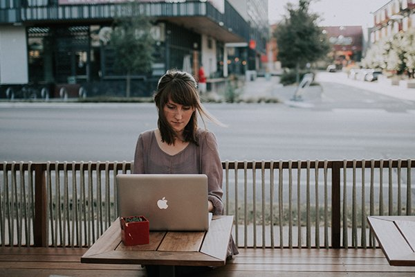 always keep learning | woman on laptop
