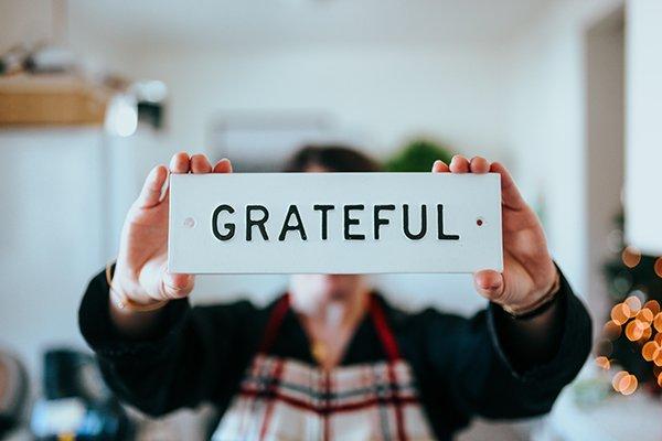 be grateful | sign saying gratitude