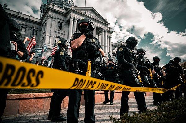 police violent