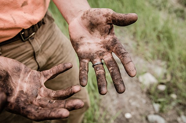 a good life   man's dirty hands