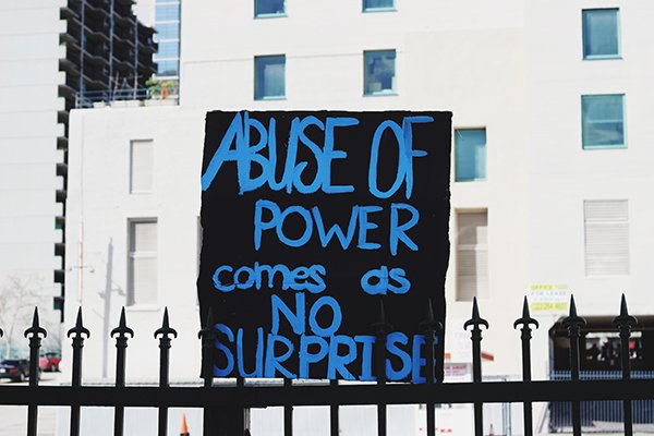 the abuse of power comes as no surprise