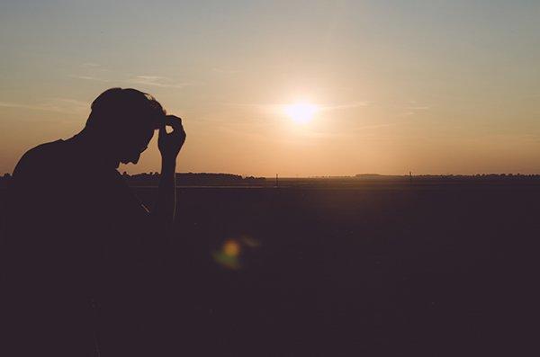 avoid self-hatred | man sad silhouette