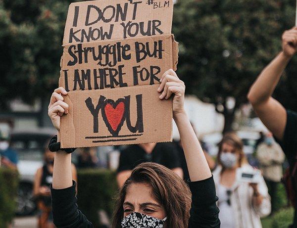 broken person | BLM protestor