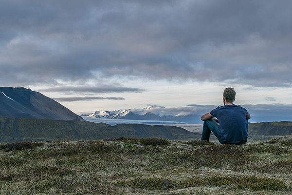 thinking | man sitting plains